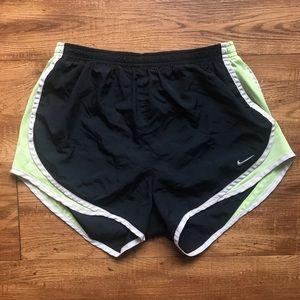 Nike Dri-Fit Navy Blue & Green Athletic Shorts (S)